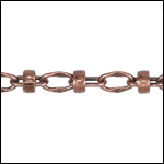Lauren's chain ANT. COPPER - per 50ft spool