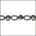 Lauren's chain MATTE GUNMETAL - per 50ft spool