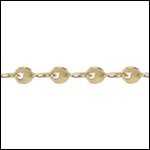 Teardrop Twists chain GOLD