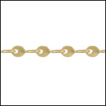 Teardrop Twists chain MATTE GOLD - per 50ft spool