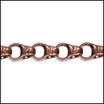 4.5mm Rolo Box chain ANT. COPPER - per 50ft spool