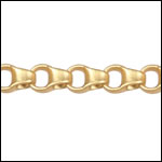 4.5mm Rolo Box chain MATTE GOLD - per 50ft spool