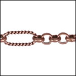 13:1 Rolo Interrupted chain ANT. COPPER - per 50ft spool