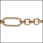 13:1 Rolo Interrupted chain GOLD