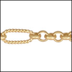 13:1 Rolo Interrupted chain MATTE GOLD - per 50ft spool