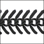 Medium TEXTURED Fishbone chain NITE BLACK - per 25ft spool