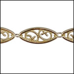 Large Filigree chain GOLD