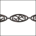 Large Filigree chain GUNMETAL- per 25ft SPOOL