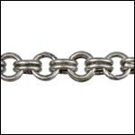 Double Link chain ANTIQUE SILVER- per 50ft SPOOL
