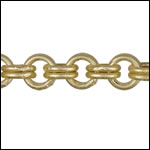 Double Link chain MATTE GOLD- per 50ft SPOOL