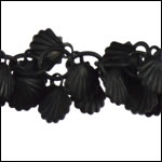 shell dangles chain NITE BLACK