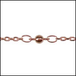 fine ball and chain ROSE GOLD - per 50ft spool