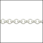 3mm rolo chain MATTE SILVER - per 50ft spool
