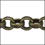 CH-94<br>5.6mm Rolo Etched Lines Chain