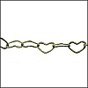 small heart chain ANT. SILVER - per 100 meter FACTORY SPOOL