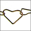 heart link chain ANT. BRASS - per 25ft spool