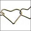 heart link chain ANT. SILVER - per 25ft spool