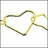 heart link chain GOLD - 25 meter FACTORY SPOOL