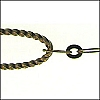 oval link chain ANT. BRASS - per 25ft spool