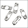 6.4mm Ball chain connector (for CH-99) SILVER PLATE - per 25 pieces