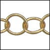 medium circle chain MATTE GOLD