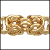 Byzantine chain GOLD - 20 meter FACTORY SPOOL
