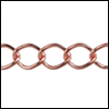 small curb chain COPPER - per 50ft spool