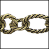mixed rope chain ANT. BRASS - per 25ft spool
