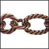 mixed rope chain ANT. COPPER - per 25ft spool