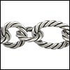mixed rope chain ANT. SILVER - per 10ft spool
