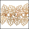 oak leaf dangles chain GOLD - 25 meter FACTORY SPOOL