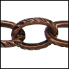 cable etched lines chain ANT. COPPER - per 25ft spool
