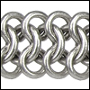 triple chainmail chain ANT. SILVER - per 10ft spool