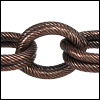 double etched heavy cable chain ANT. COPPER - per 32.8ft spool