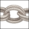 double etched heavy cable chain ANT. SILVER - per 32.8ft spool