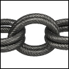 double etched heavy cable chain MATTE GUNMETAL - per 32.8ft spool