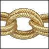 double etched heavy cable chain MATTE GOLD - per 32.8ft spool