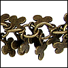 clover leaf dangles chain ANT. BRASS - per 10ft spool