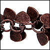 heart dangles chain ANT. COPPER - per 10ft spool