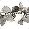 heart dangles chain ANT. SILVER - per 10ft spool