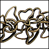 floating hearts chain ANT. BRASS - per 10ft spool