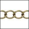 medium curb chain ANT. BRASS