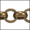 11mm Rolo chain ANT. BRASS - per 32.8ft spool