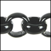7mm rolo chain NITE BLACK SHINY - per 25ft spool