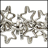 floating stars chain ANT. SILVER - per 10ft spool