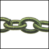 Polyester Chain GREEN - per 3 ft strand
