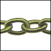 Polyester Chain LEAF GREEN - per 3 ft strand