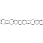 STERLING SILVER Chain 4 per foot
