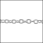 STERLING SILVER Chain 9 per foot