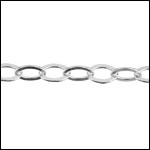 STERLING SILVER small flat cable chain per foot